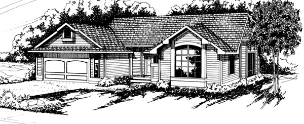 Country Ranch House Plan 69195 Elevation