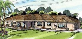 Mediterranean Ranch Southwest House Plan 69197 Elevation