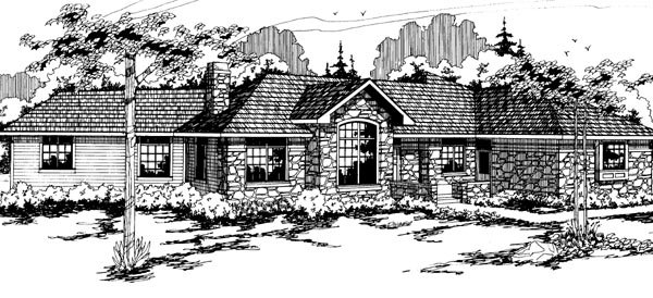 Traditional House Plan 69198 Elevation