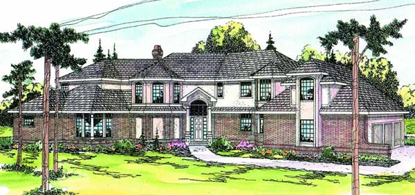 Mediterranean Traditional House Plan 69199 Elevation