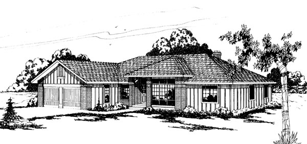 Traditional House Plan 69200 Elevation