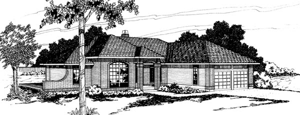 Traditional House Plan 69201 Elevation