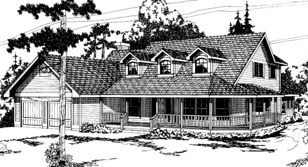 Country Farmhouse House Plan 69203 Elevation