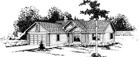 Ranch House Plan 69206 Elevation