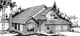 Traditional House Plan 69208 with 3 Beds, 2.5 Baths, 2 Car Garage Elevation