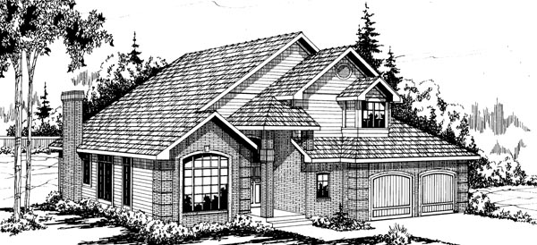 Traditional House Plan 69208 Elevation