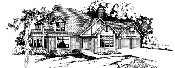 European House Plan 69209 Elevation