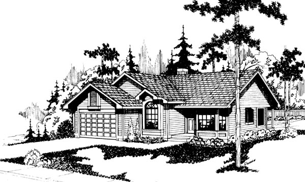 Ranch House Plan 69210 Elevation