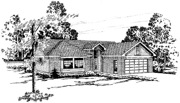 Ranch House Plan 69213 Elevation