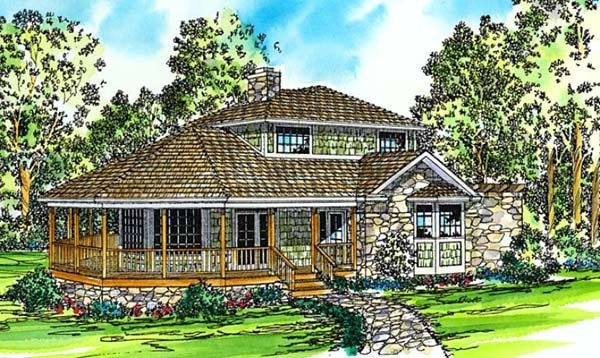Country Farmhouse House Plan 69214 Elevation