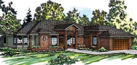 Ranch Traditional House Plan 69215 Elevation