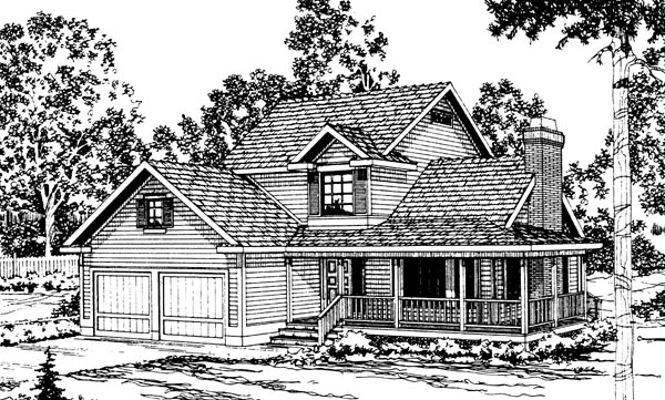Country Farmhouse House Plan 69216 Elevation