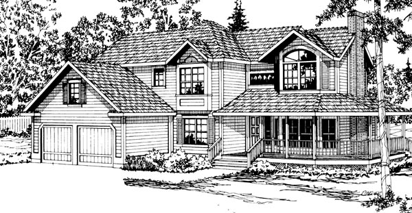 Country Farmhouse House Plan 69218 Elevation