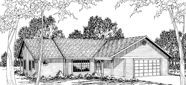 Ranch House Plan 69220 Elevation