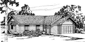 House Plan 69224 | Ranch Style Plan with 1463 Sq Ft, 3 Bedrooms, 2 Bathrooms, 2 Car Garage Elevation