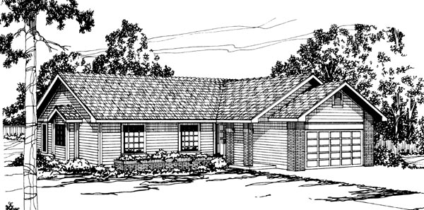 Ranch House Plan 69224 Elevation