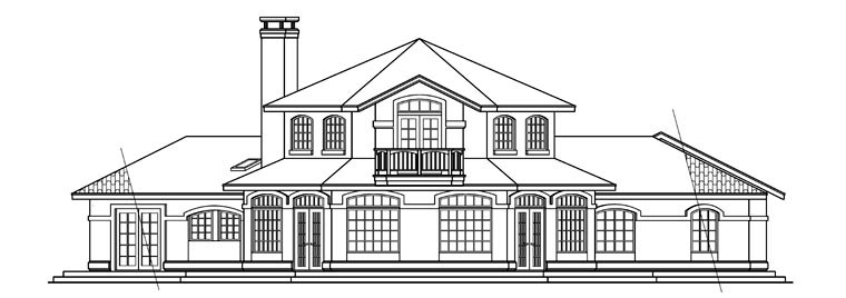 Mediterranean House Plan 69226 Rear Elevation