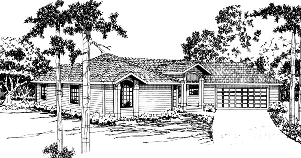 Ranch House Plan 69228 Elevation