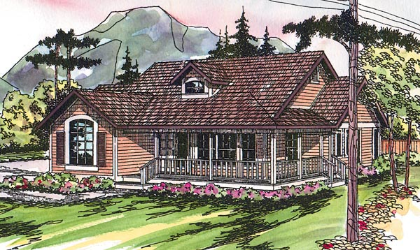 Contemporary Country Craftsman Ranch Traditional House Plan 69229 Elevation