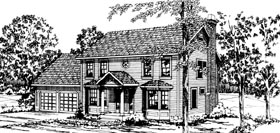 Colonial House Plan 69231 Elevation
