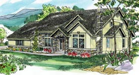 Traditional House Plan 69232 with 3 Beds, 2.5 Baths, 2 Car Garage Elevation