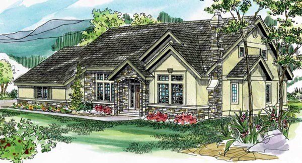 Traditional House Plan 69232 Elevation