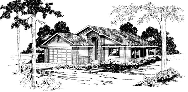 Ranch House Plan 69233 Elevation