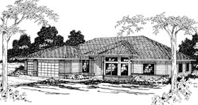 Contemporary , Traditional House Plan 69236 with 4 Beds, 2.5 Baths, 3 Car Garage Elevation