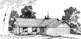 House Plan 69237 | Ranch Style Plan with 1531 Sq Ft, 3 Bedrooms, 2 Bathrooms, 2 Car Garage Elevation