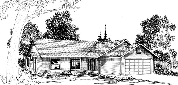 Ranch House Plan 69237 Elevation