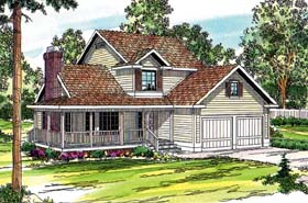 Country Farmhouse House Plan 69240 Elevation