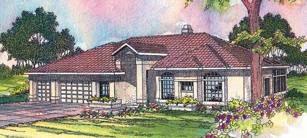 Mediterranean House Plan 69244 Elevation