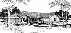 Ranch House Plan 69249 Elevation