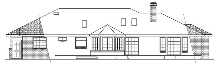 Ranch House Plan 69249 Rear Elevation