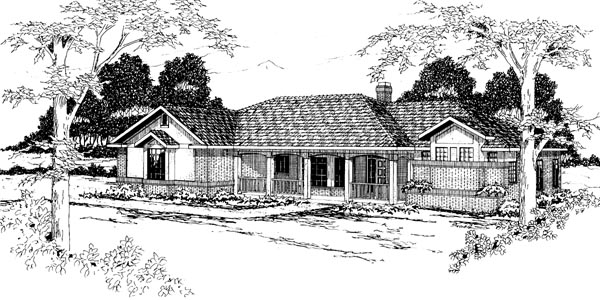 Traditional House Plan 69251 Elevation