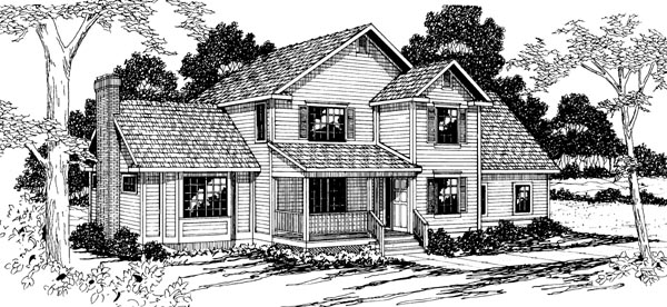 Country House Plan 69252 Elevation