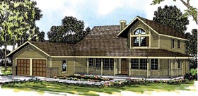 Victorian , Traditional , Country , Cottage House Plan 69253 with 4 Beds, 2.5 Baths, 2 Car Garage Elevation