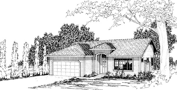 Ranch House Plan 69254 Elevation