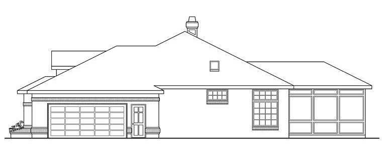 Traditional House Plan 69257 with 4 Beds, 3.5 Baths, 2 Car Garage Picture 2