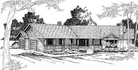House Plan 69260 | Ranch Style Plan with 2568 Sq Ft, 4 Bedrooms, 3 Bathrooms, 2 Car Garage Elevation