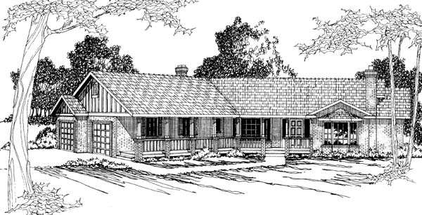 Ranch House Plan 69260 Elevation