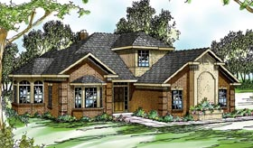 Traditional House Plan 69263 with 4 Beds, 3 Baths, 3 Car Garage Elevation