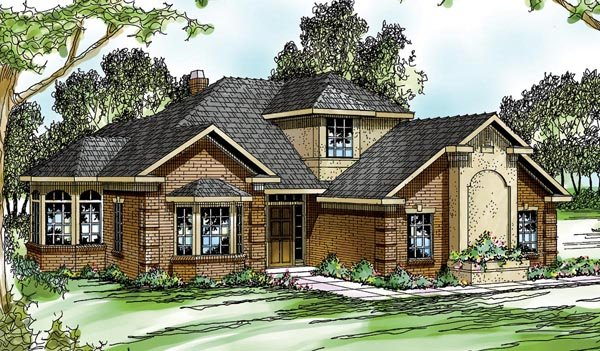 Traditional House Plan 69263 Elevation