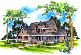 Cottage Country Traditional House Plan 69265 Elevation