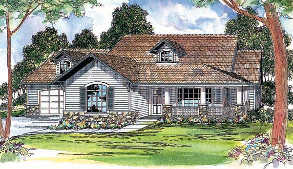 Bungalow Country House Plan 69268 Elevation