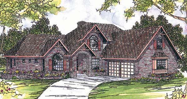 Craftsman European House Plan 69271 Elevation
