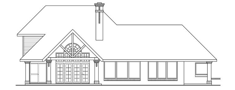 Craftsman European House Plan 69272 Rear Elevation