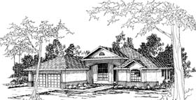 House Plan 69273 | Traditional Style Plan with 2458 Sq Ft, 4 Bedrooms, 3 Bathrooms, 2 Car Garage Elevation