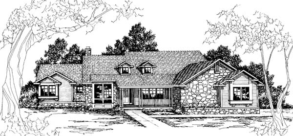Country House Plan 69274 Elevation