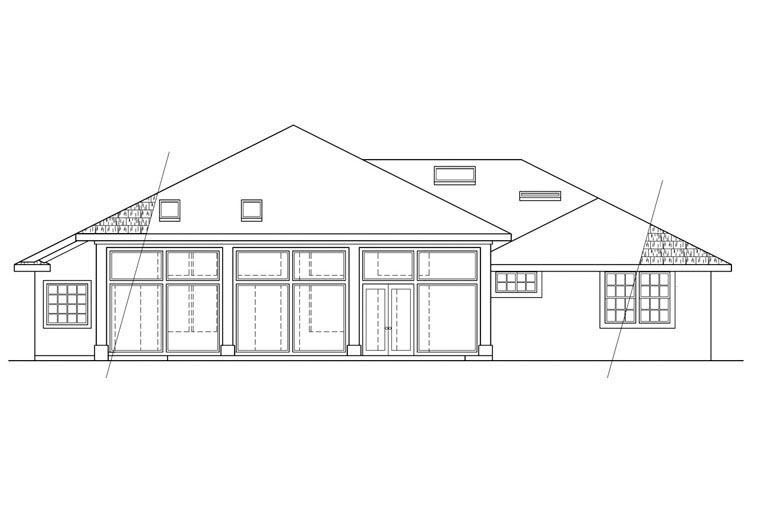 Country House Plan 69274 Rear Elevation